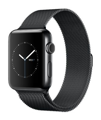 Apple Watch Series 2 Space Black Stainless Steel Case with Space Black Milanese Loop
