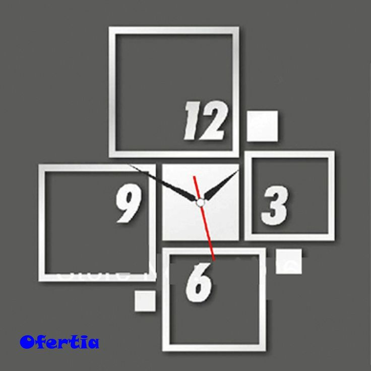 25 best ideas about reloj pared adhesivo en pinterest - Reloj de pared moderno ...