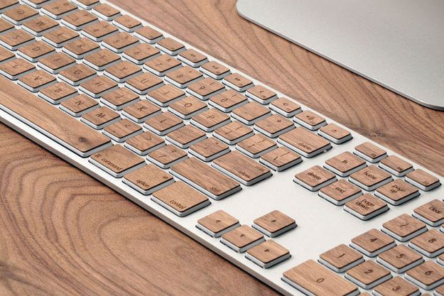 Dress up your keyboard with these sleek stickers. | 54 Ways To Make Your Cubicle Suck Less