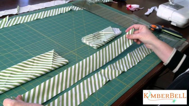 Kimberbell Designs - How to Make Bias Binding from a Fat Quarter of Fabric ~  I like the way she makes the bias tape.~