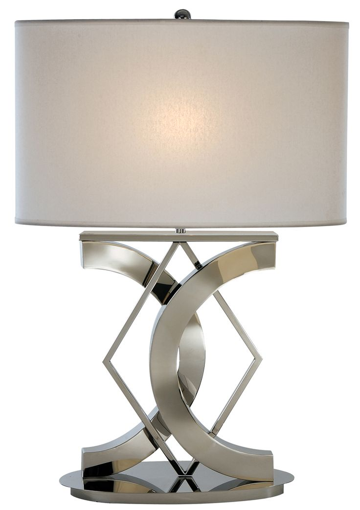 Trend Lighting TT3130 Geometry Table Lamp Shown In Polished Chrome Finish