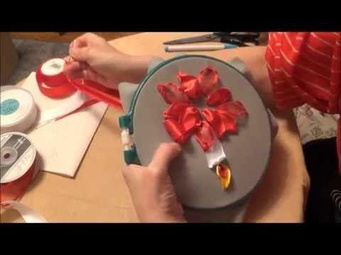 Вышивка лентами для начинающих. Рождественская звезда - YouTube