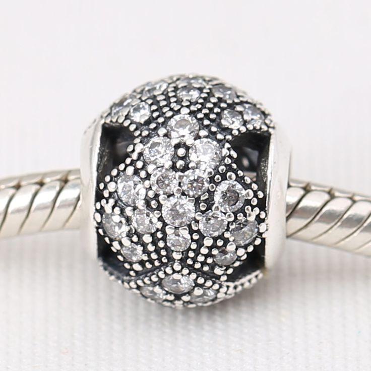 Oriental Fan Charm 925 Sterling Silver Crystal  European Beads Fit Pandora Bracelets &Necklace SP00117