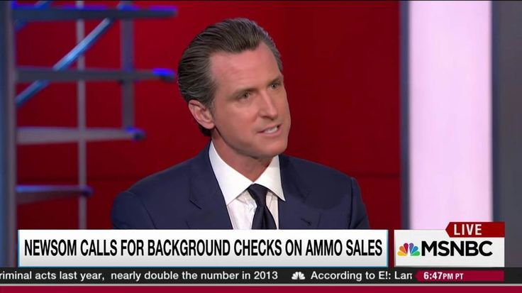 Lieutenant Governor Gavin Newsom of California, talks with Rachel Maddow about a new proposal being presented to his state's voters to require a background check for ammunition purchases, a move it is hoped will avoid the NRA lobbying pressure that has...
