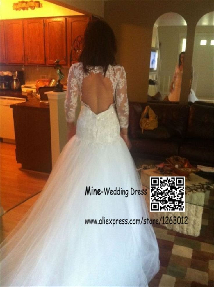 С длинным рукавом русалка аппликация кружева свадебное платье с открытой спиной платья novias тюль свадебные платья