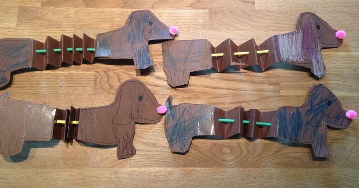 Preschool craft opposites long and short dog craft www.facebook.com/SaltMeadowAcademy #saltmeadowacademy