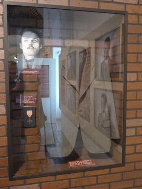 """The exhibition """"Faces of courageous"""" - clothing of Josef Valčík."""