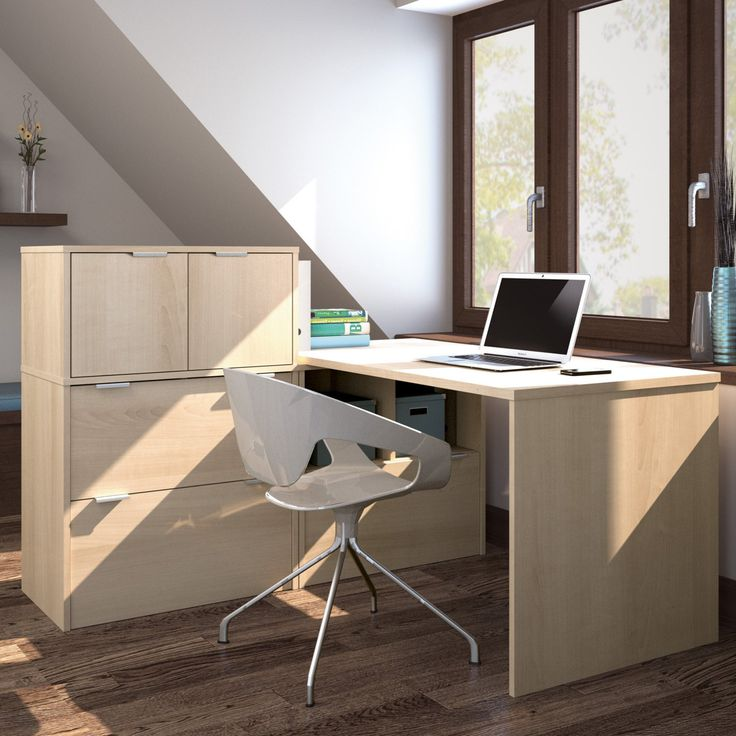 Bestar i3 L-Shaped Desk with Small Hutch - 150863-78