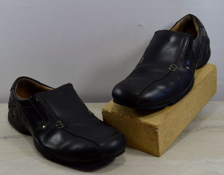 Skechers Men's Size 9 M Black Leather Slip On Shoes Dragon Detail #Skechers #LoafersSlipOns