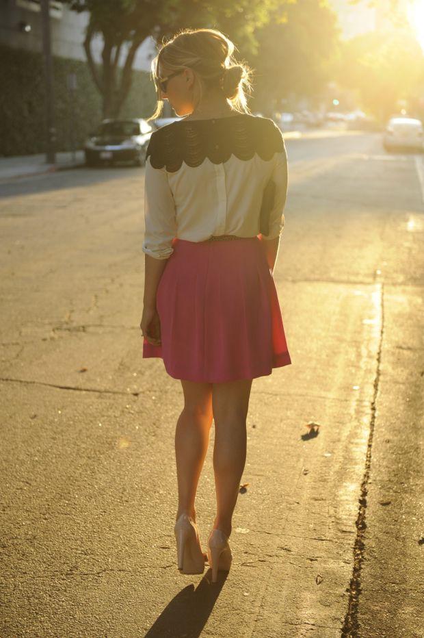Black Lace via Cupcakes & Cashmere: Black Lace, Fashion, Blouse, Style, Lace Cupcakes, Outfit, Bibbed Lace, Cashmere