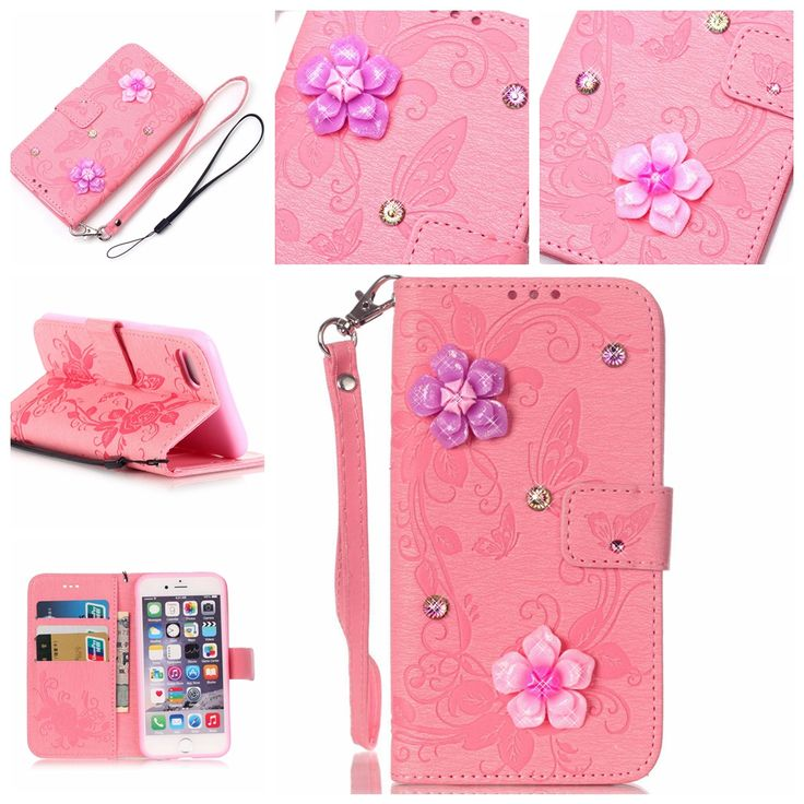 Find More Phone Bags & Cases Information about Butterfly 3D Flowers Bling Phone Cases Flip Mobile Phone Bag for iPhone 7 Cover Stand Case with Card Holder for iPhone 7 Case,High Quality bag phone for sale,China bag mobile phone Suppliers, Cheap bags tribal from TopArmor Store on Aliexpress.com