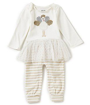 Mud Pie Baby Girls Newborn-9 Months Thanksgiving Turkey Tutu Coverall