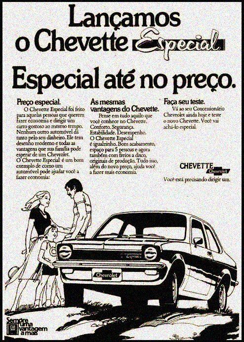 Anúncio Chevette Especial - 1975