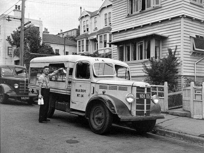 Wellington [New Zealand] Milk Dept. home delivery truck (1950s)