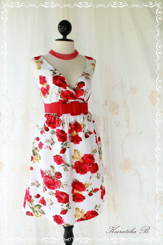 Miss Floral  Spring Summer Sundress Party by LovelyMelodyClothing, $35.00