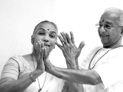 Mr. and Mrs. Dhananjayan, Performing Bharata Natyam, Classical South Indian Dance, Chennai, Tamil Nadu India