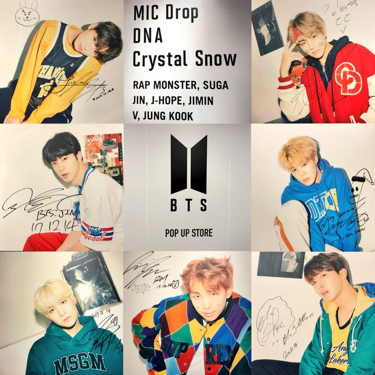 BTS popup store MIC DROP DNA crystal snow Shibuya 109