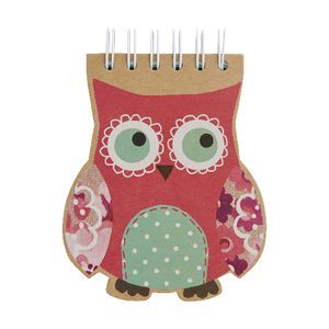 Go Stationery A6 Die cut Notebook Owls