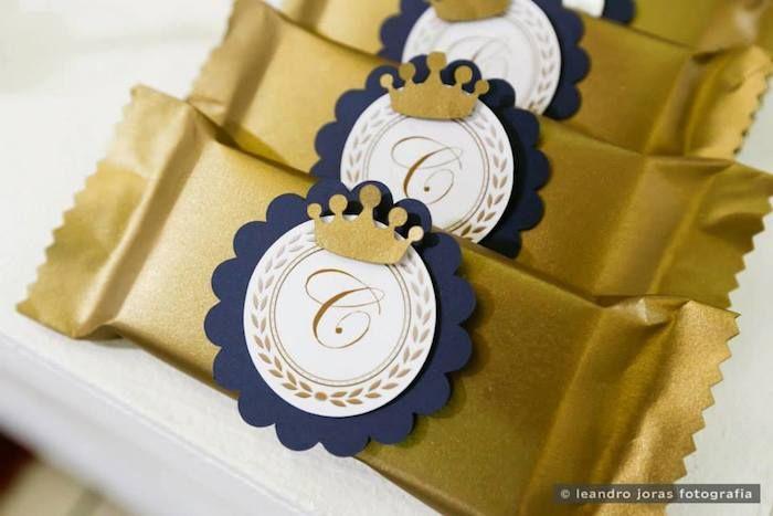 Royal Prince 1st birthday party via Kara's Party Ideas KarasPartyIdeas.com Cake, decor, cupcakes, favors, printables, and more! #princeparty #royalprince #littleprince (40)