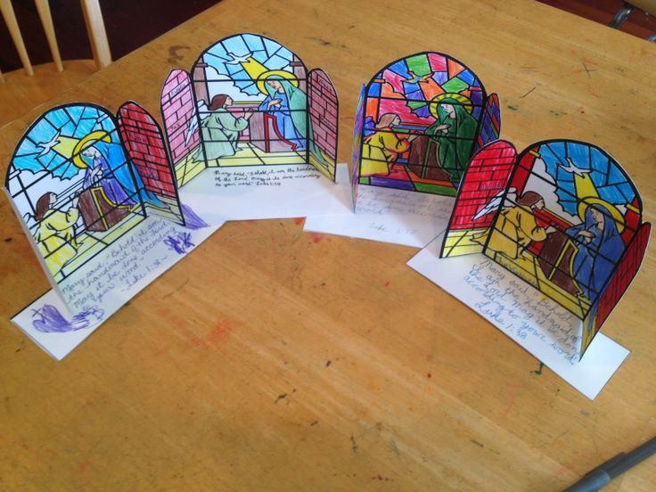 Annunciation coloring pages for Catholic homeschool