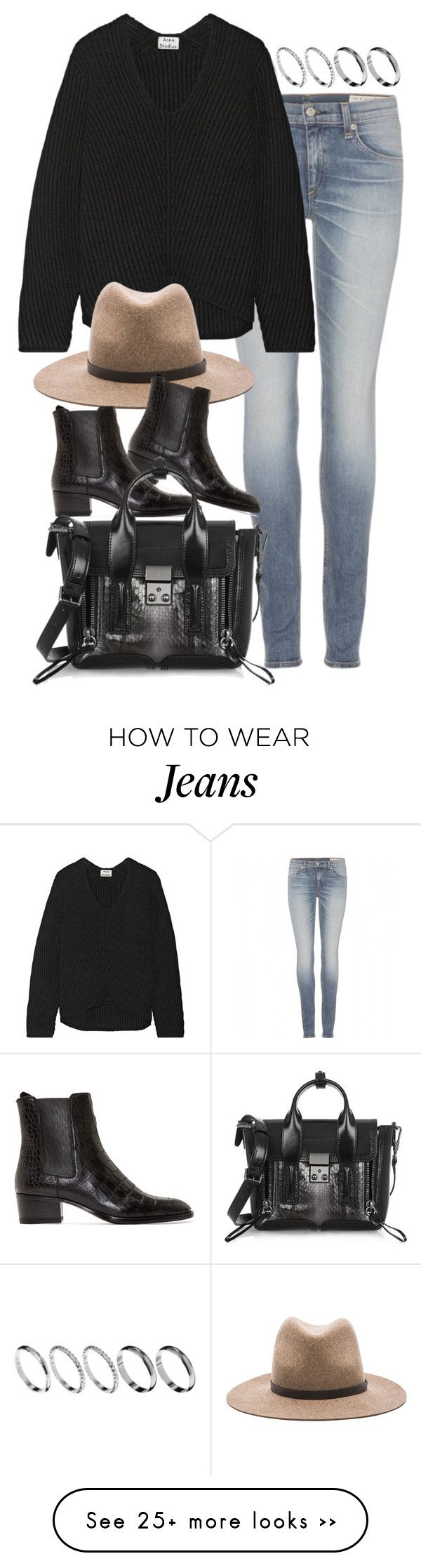 """""""Untitled #7281"""" by nikka-phillips on Polyvore featuring ASOS, rag & bone, Acne Studios, Yves Saint Laurent and 3.1 Phillip Lim"""