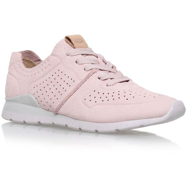 UGG Tye Nubuck Trainers ($145) ❤ liked on Polyvore featuring shoes, sneakers, light weight shoes, ugg sneakers, nubuck sneakers, nubuck leather shoes and lightweight sneakers