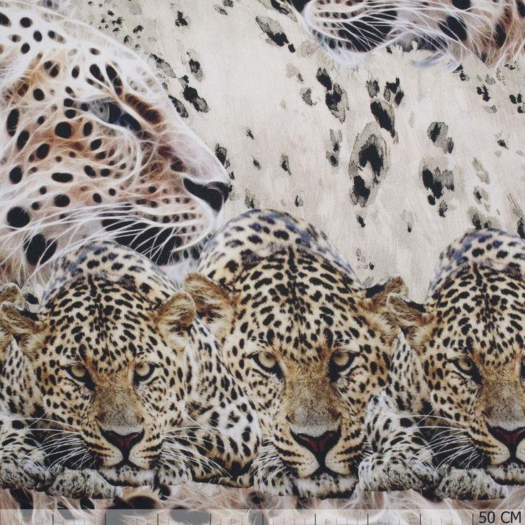 Tricot Randdessin Big Cats 56541-110