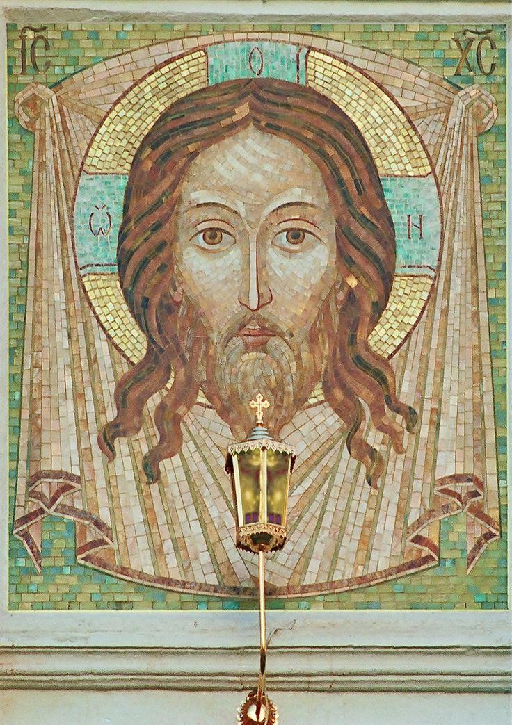 """Флорентийская и римская мозаика - только камень...: """"Спас Нерукотворный со Ангелами"""" римская мозаика ..."""