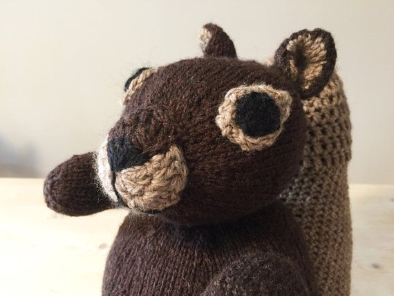 Squirrel soft toy plush BFF stuffed cuddly animal by In2twine