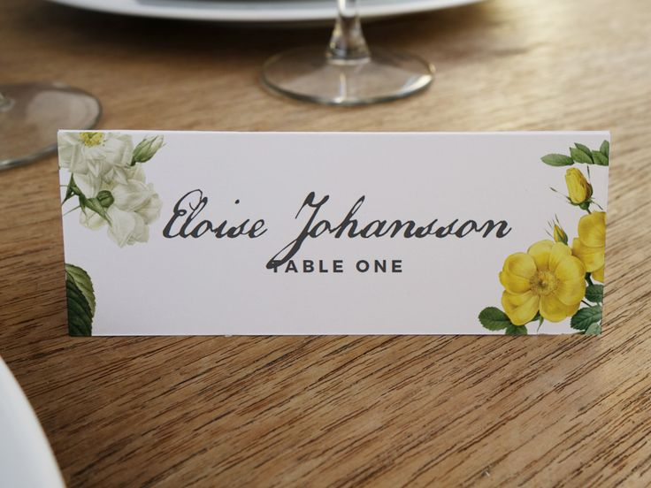 60 best Printable Place Cards images on Pinterest Card patterns