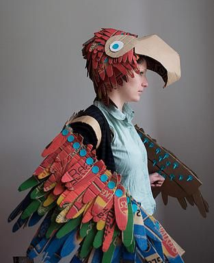 Parrot Costume, Lottie Smith, Makedo, Dress Up, Costume, Recycling, DIY, Halloween, Instructables