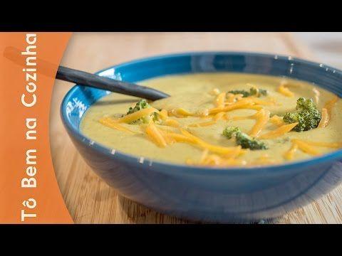 SOPA DE BRÓCOLIS COM CHEDDAR - Receita de sopa de brócolis (Episódio #208) - YouTube