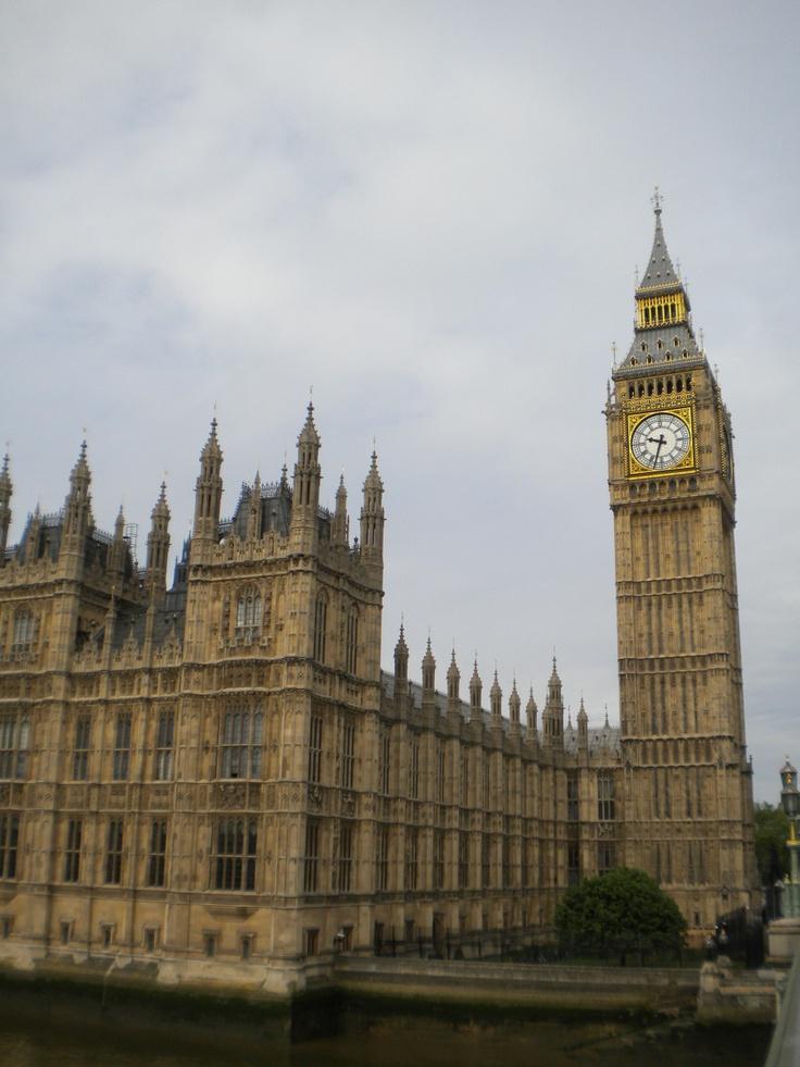 Parlamento de Londres y Big Ben o Torre de Isabel