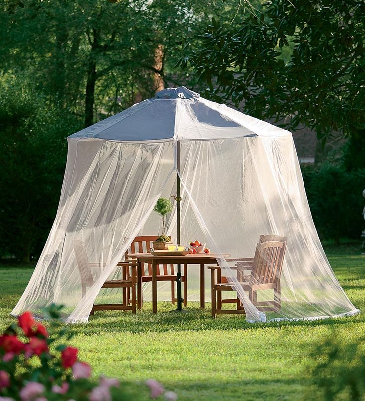 Marvelous Umbrella Mosquito Net   Drop This Net On Top Of Your 7u0027 Or 9u0027 · Patio  CurtainsCanopy ...