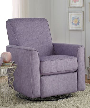 Love the color. Another great find on #zulily! Carlton Dove Harmony Glider Recliner #zulilyfinds