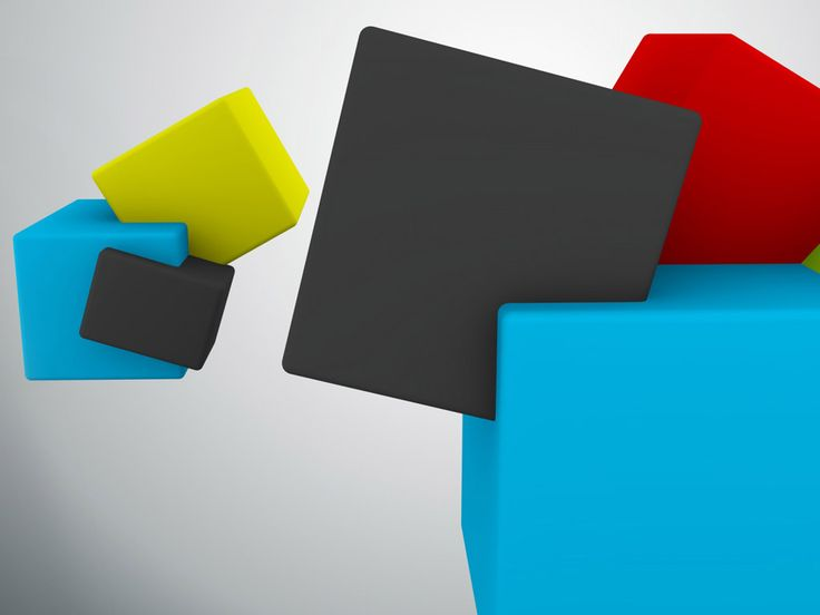 3D Colors Cubes