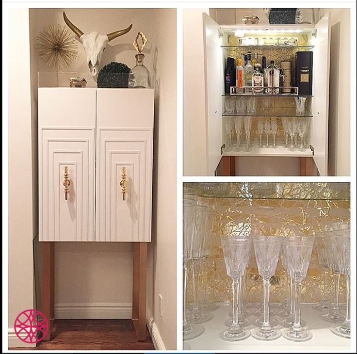 open the doors of this ikea cabinet embellished with