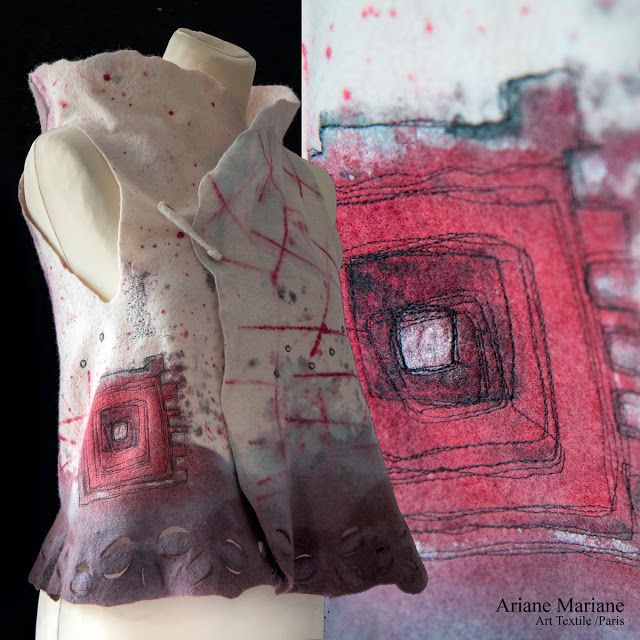 Ariane Mariane - art textile - feutre d'art