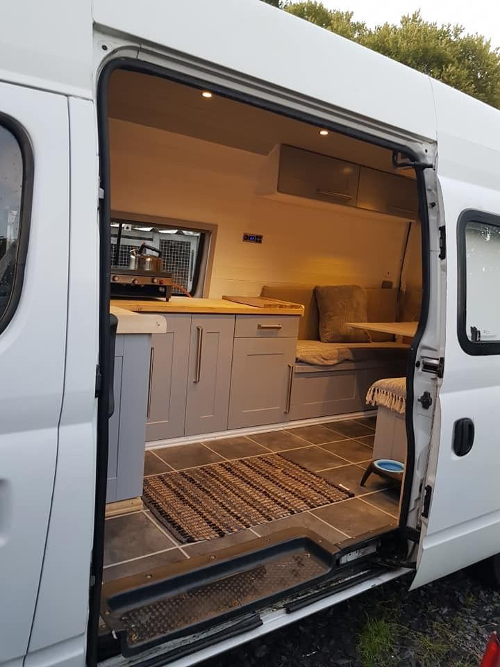 So Basically The Kitchenette A Bit Shorter In The Back Something Grunde Invert Camper Van Conversion Diy Van Conversion Interior Campervan Interior