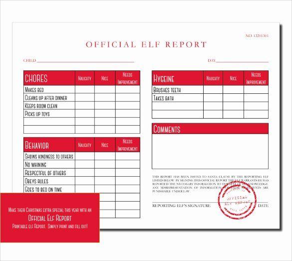 Simple Report Card Template Beautiful 12 Progress Report Card Templates To Free Download Elf Report Card Santa Letterhead Report Card Template