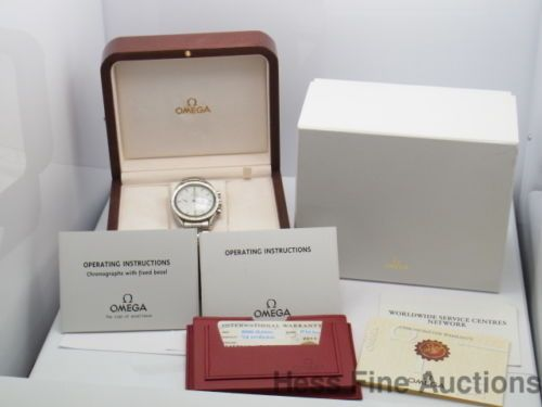 Genuine Mint Omega Broad Arrow Speedmaster Chronograph Watch Box Papers vdr