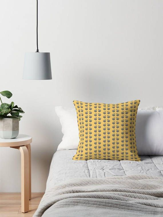 Hey, I found this really awesome Etsy listing at https://www.etsy.com/uk/listing/563841125/yellow-paw-print-cushion-yellow-cushion