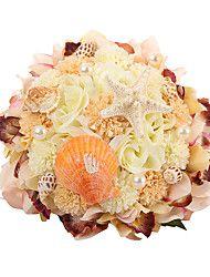 Esküvői virágok Rózsák Csokor Selyem