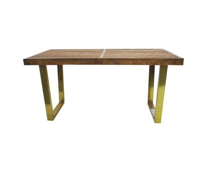 Threshold Wood Slat Bench, sale $90
