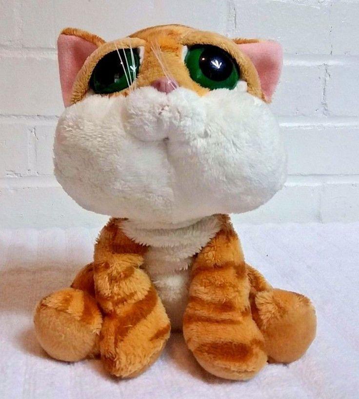 Russ Orange Tabby Cat Chilie Big Eyes Stuffed Animal Plush Beanbag         (A26) #Russ