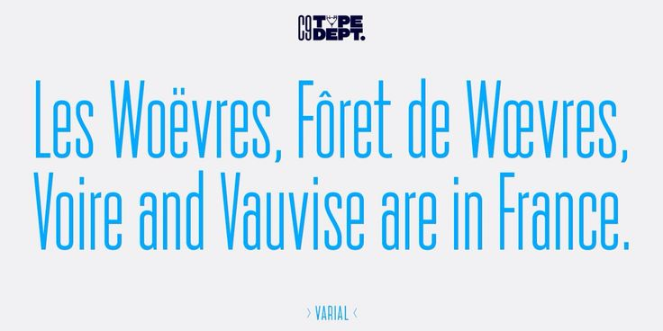 Varial, extra-condensed Opentype™ sans-serif with small caps, extended character set (european languages support) and extra features (fractions, ligatures and alternatives). Made by Cloud9 Type Dept.