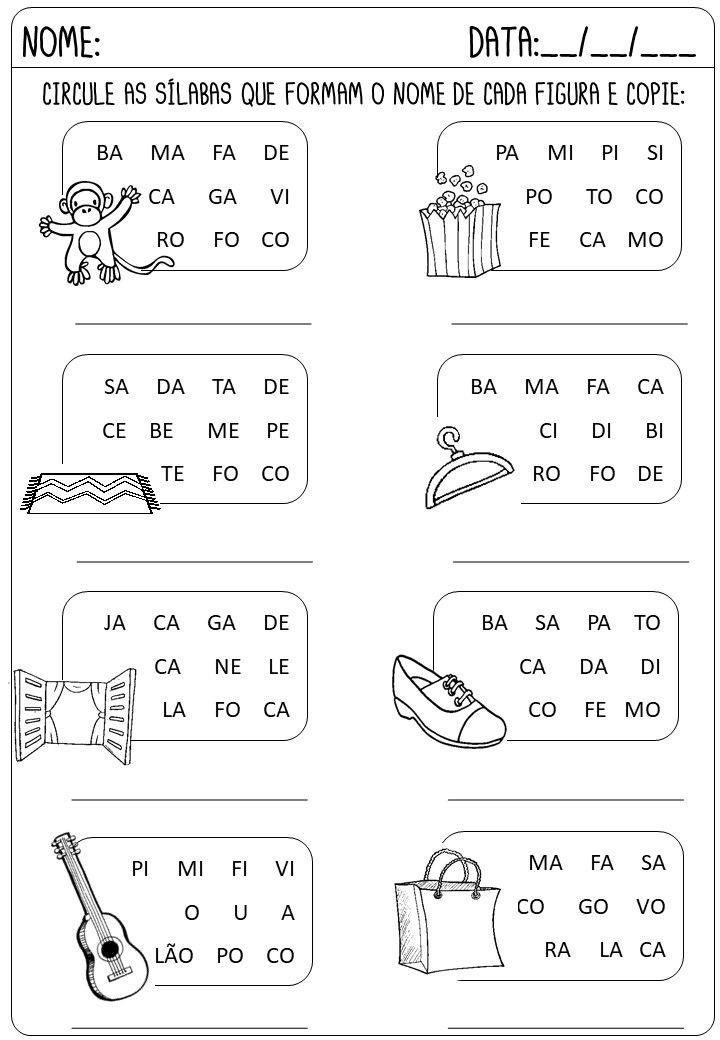 Criar Recriar Ensinar Com Imagens Atividades De Alfabetizacao
