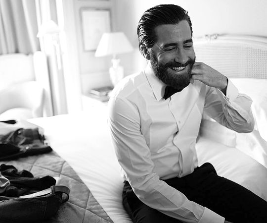 Jake Gyllenhaal in his room before heading out to the Okja premiere at Cannes Film Festival by Greg Williams