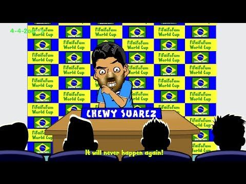 LUIS SUAREZ BAN APOLOGY STATEMENT by 442oons (World Cup Cartoon 30.6.2014)