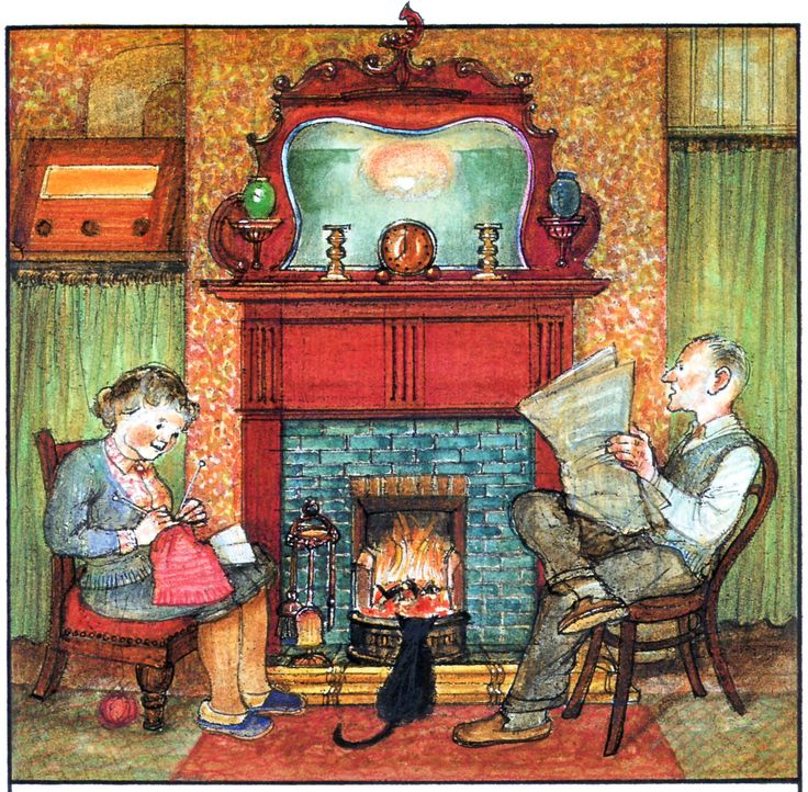 Raymond Briggs - Ethel & Ernest A True Story (about his father and mother) - By the fire (p. 78) (13 of 19)